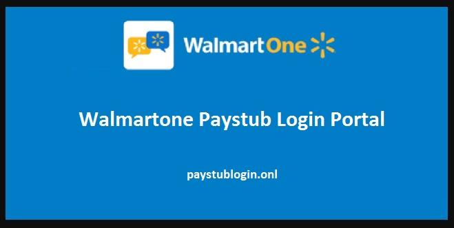 Walmartone Paystub Login