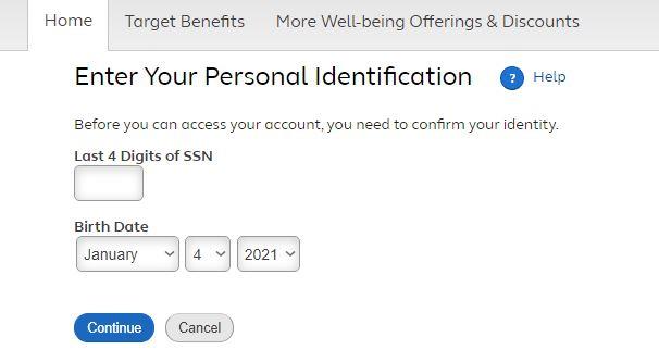 TargetPayandBenefits login 1