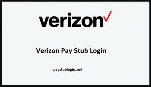 Verizon pay Stub online