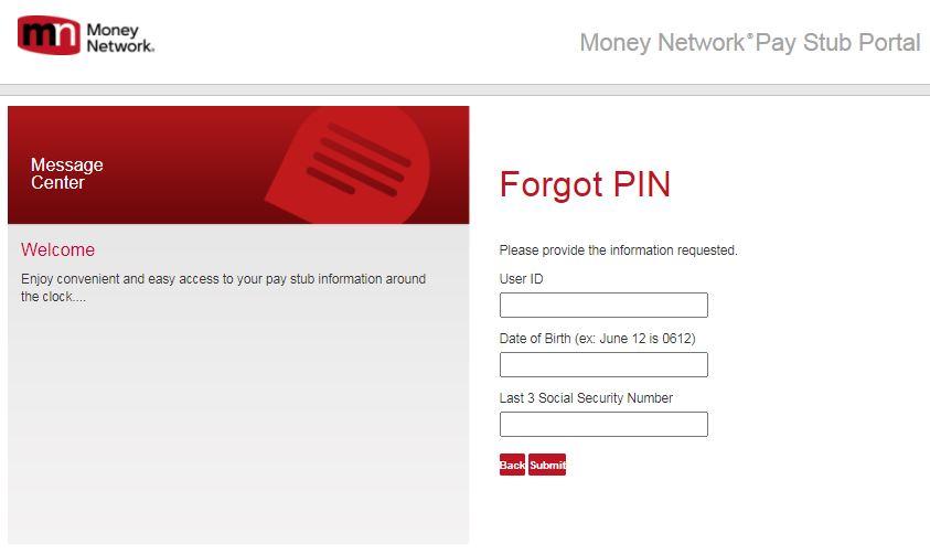 PHC Pay Stub Login Reset Password