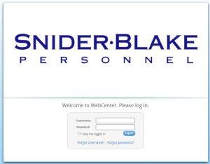Snider Blake Pay Stub Login Portal