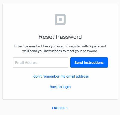 Square Pay Stub Login Reset password