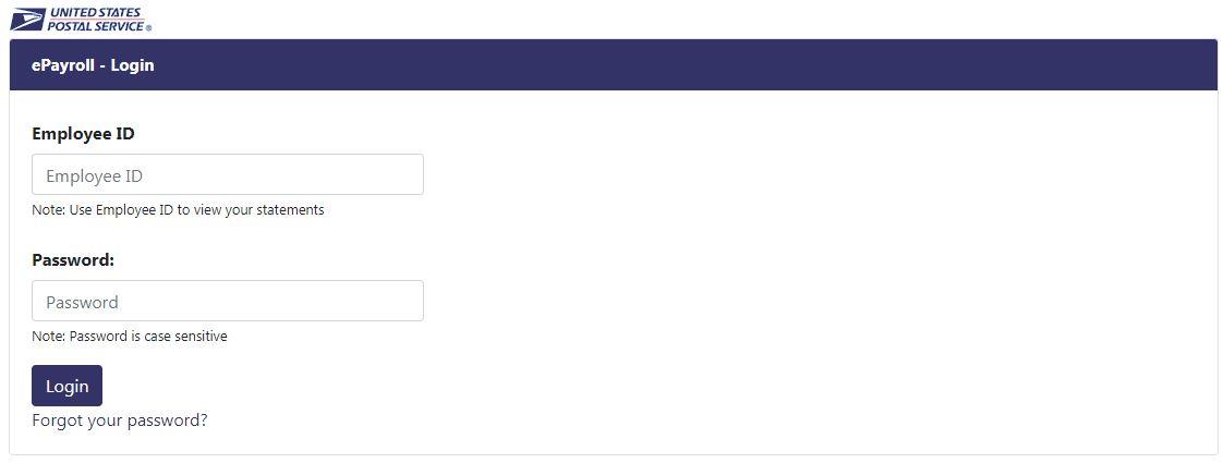 USPS Pay Stub Portal