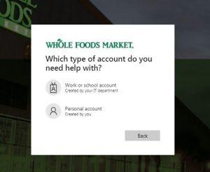 WholeFood Pay stub Login Forgot Username