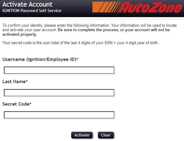 Autozone Pay Stub Employee Login Register Account