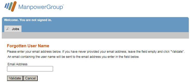 Manpower Employee Login Forgot Username