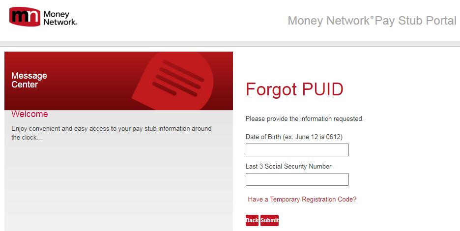 Molex Pay Stub Login Forgot PUID